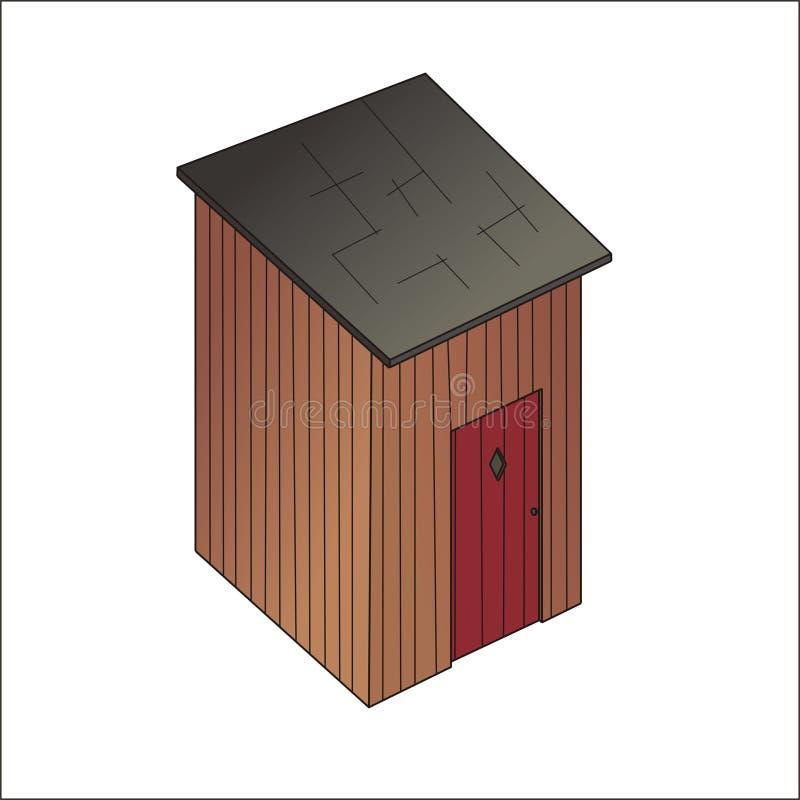 Le privé en bois illustration de vecteur