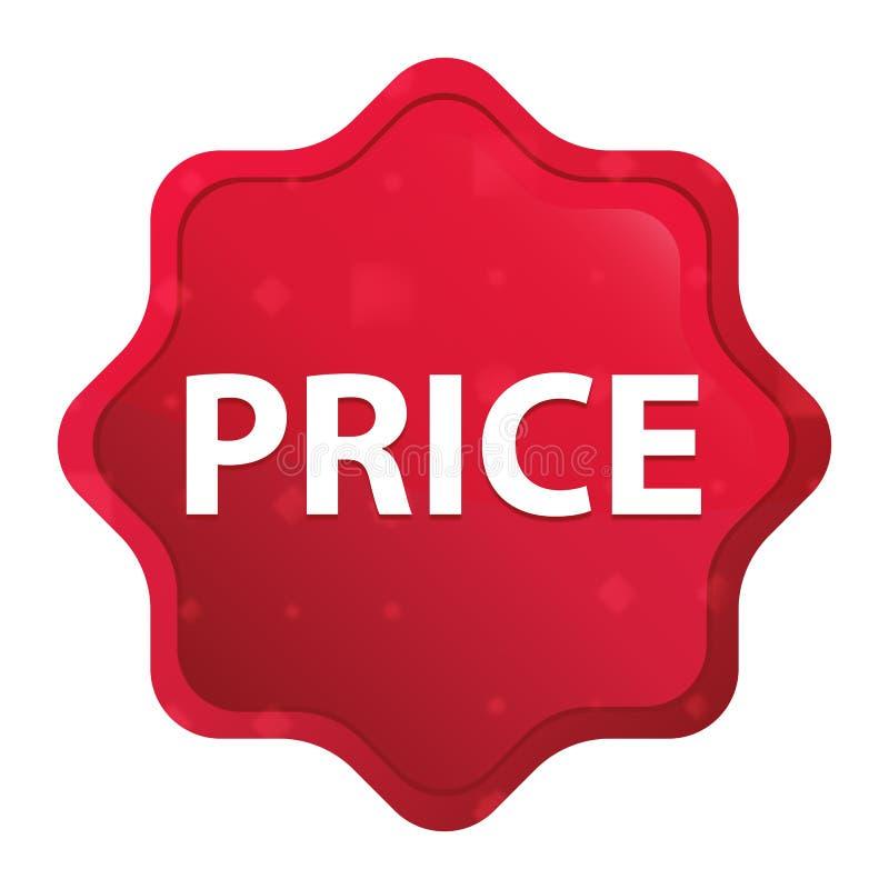 Le prix brumeux a monté bouton rouge d'autocollant de starburst illustration stock
