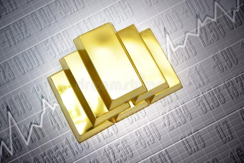 Le prix de l'or illustration libre de droits