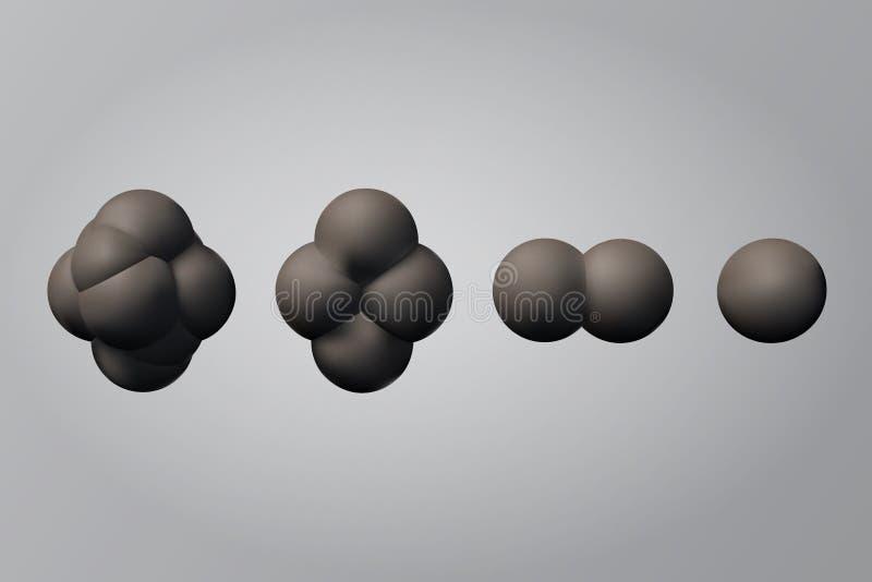 Le processus de la division cellulaire illustration stock
