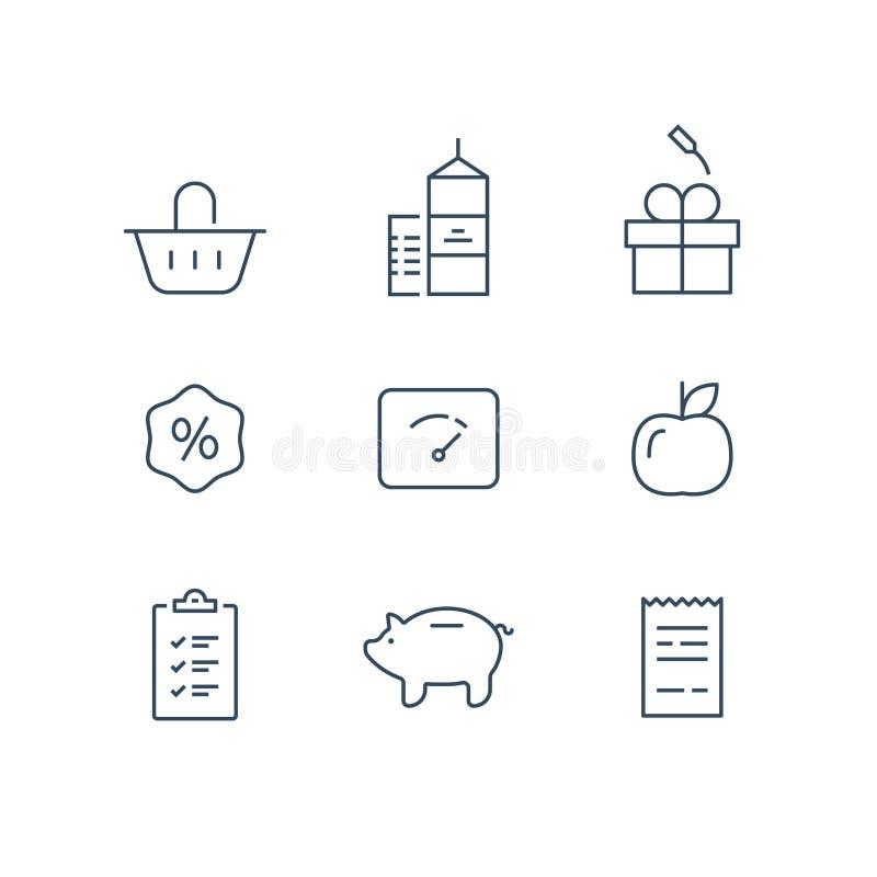 Le programme de fidélité, gagnent des points et obtiennent la récompense, lançant le concept sur le marché illustration stock