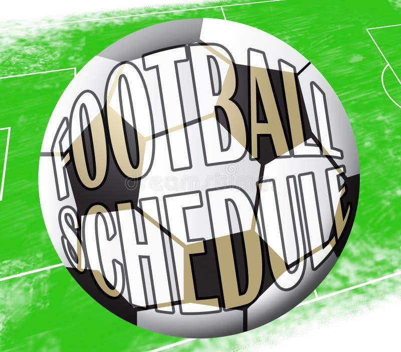 Le programme du football montre l'illustration de l'horaire 3d du football illustration libre de droits