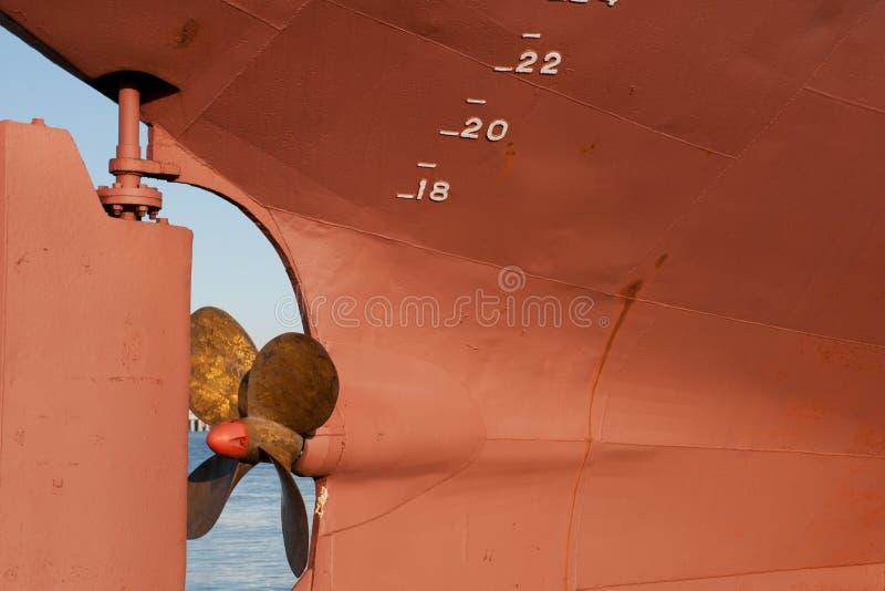 Le propulseur d'un bateau photographie stock libre de droits