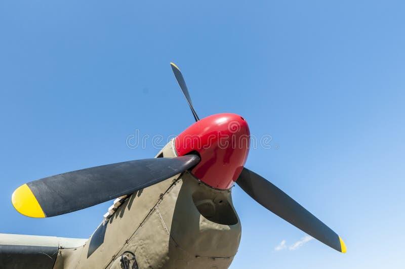 Le propulseur du bombardier de moustique de Havilland image stock