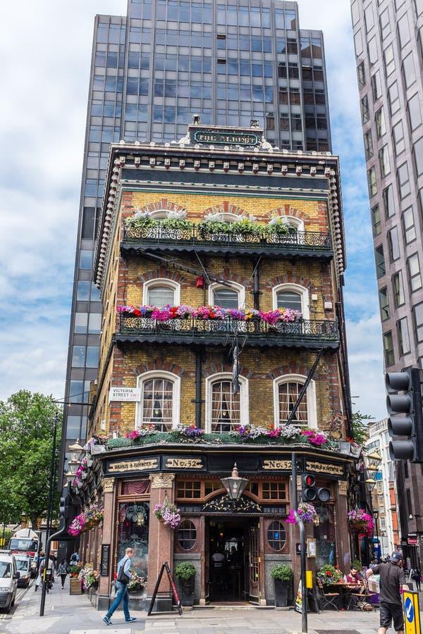 Le Pub Londres d'Albert images stock