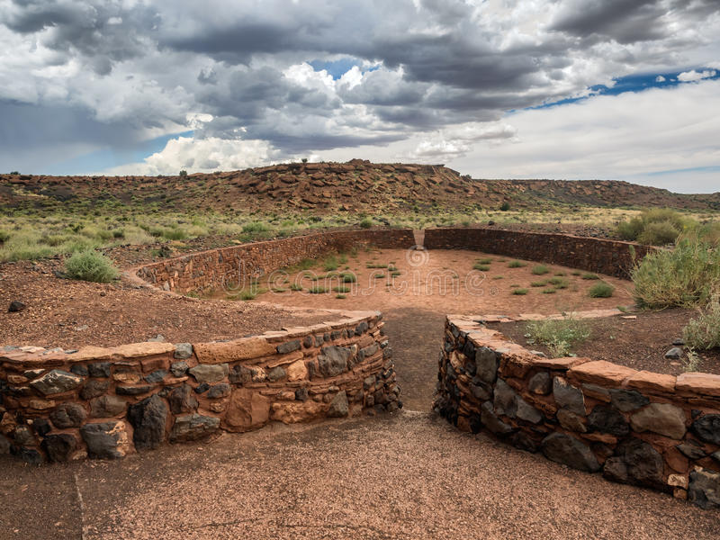 Le pueblo de Wupatki ruine le monument national, Arizona photo stock