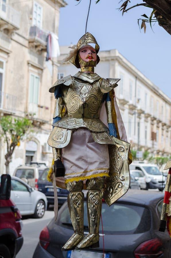 Le Pupo sicilien est une marionnette caractéristique photos stock