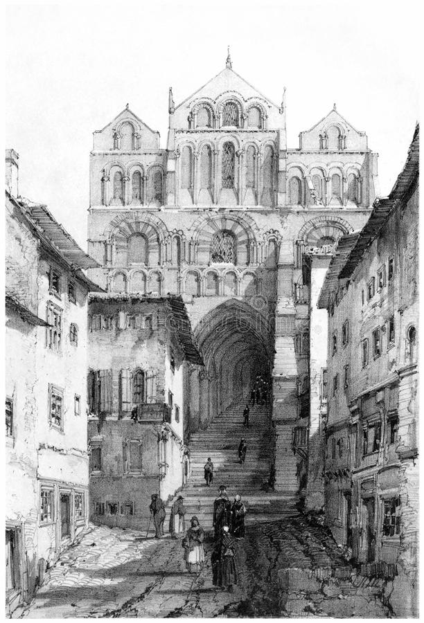 Le Puy Cathedral royalty free stock photo