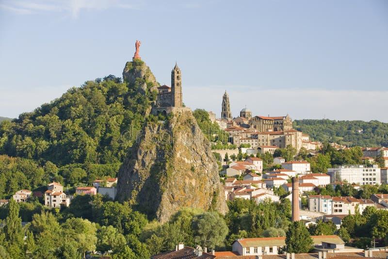 Le Puy Engelse Velay, Frankrijk stock foto