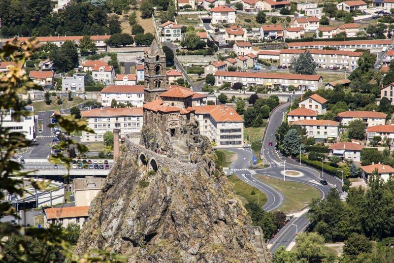 Le Puy Engelse Velay, Frankrijk stock afbeelding