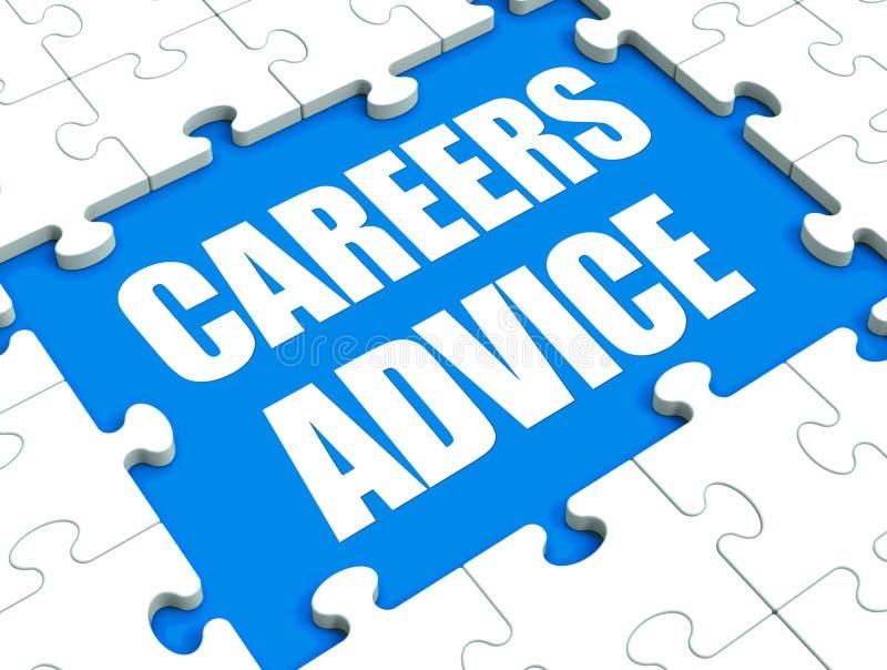 Le puzzle de conseil de carrières montre conseiller et cul de conseils d'emploi illustration de vecteur