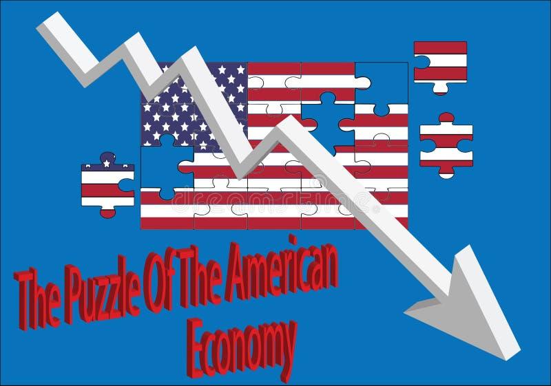 Le puzzle de l'économie américaine illustration libre de droits