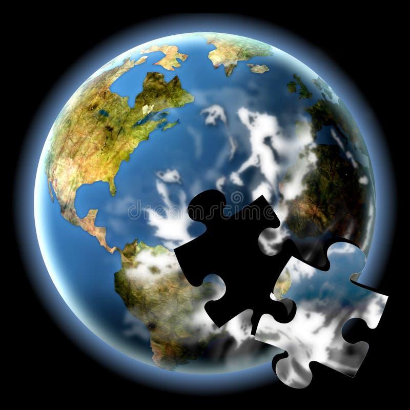 Le puzzle de la terre illustration libre de droits