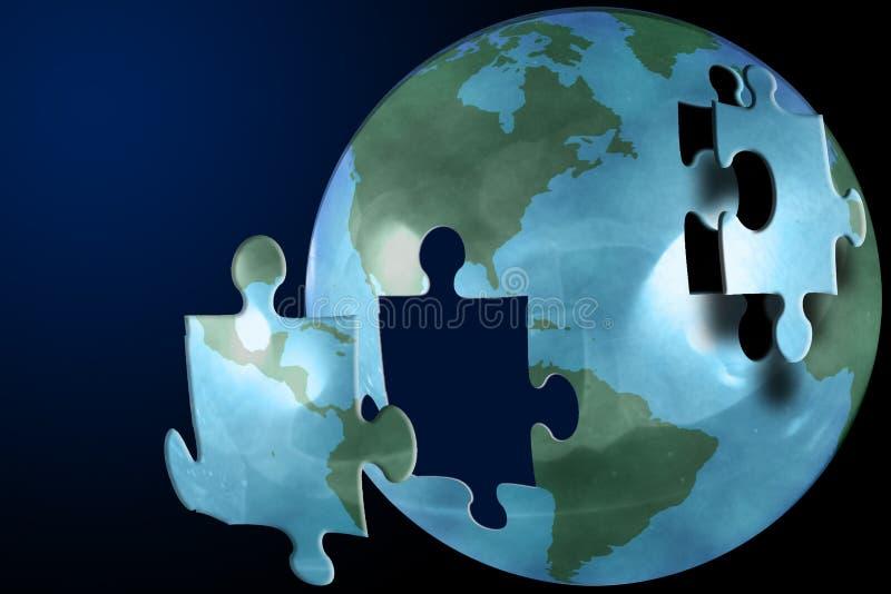 Le puzzle du monde illustration de vecteur