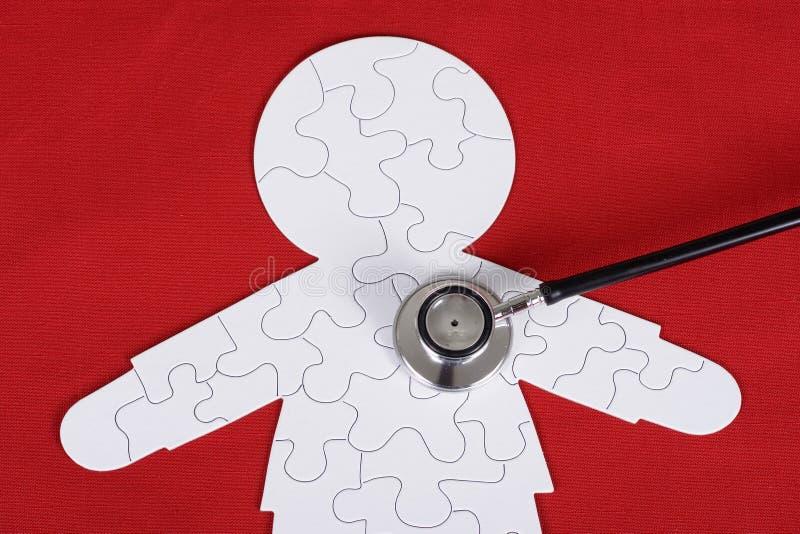 Le puzzle humain images libres de droits