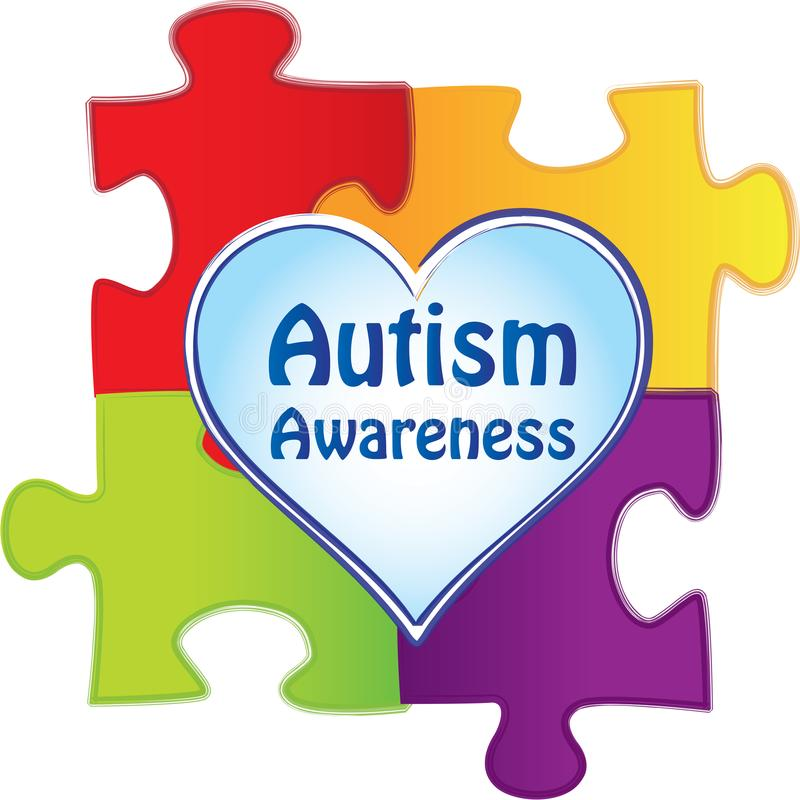 Le puzzle rapièce le logo de conscience d'autisme illustration libre de droits