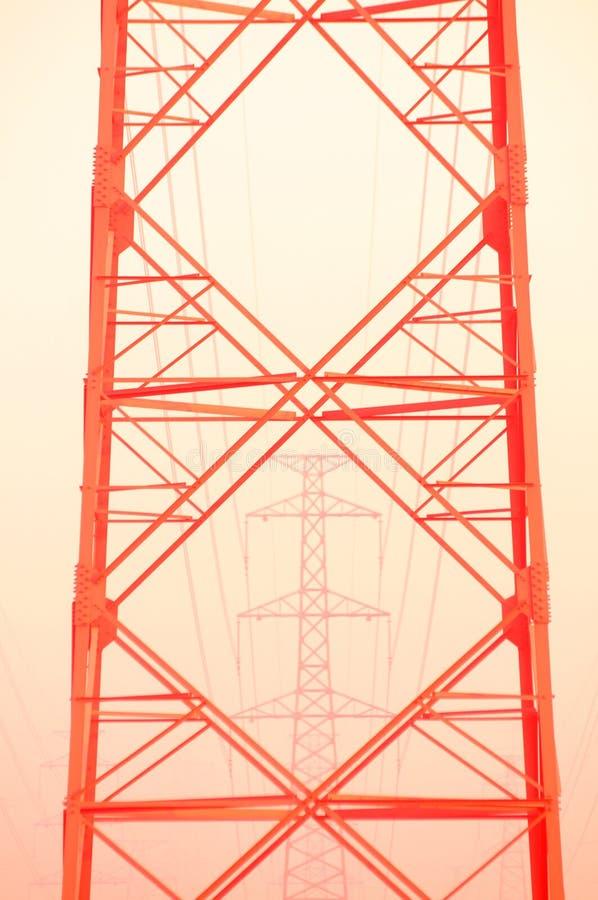 Le pylône rouge photographie stock