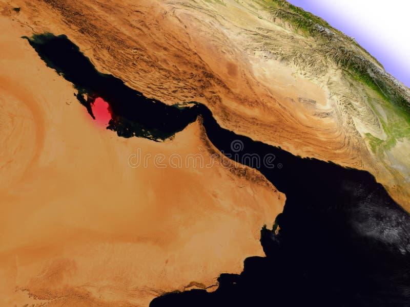 Download Le Qatar De L'espace Accentué En Rouge Illustration Stock - Illustration du physique, highlighted: 77163408