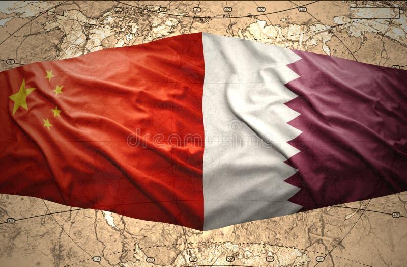 Le Qatar et la Chine illustration libre de droits