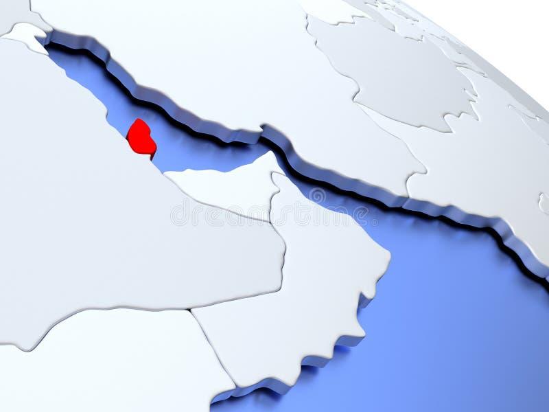 Carte Du Monde Qatar.Le Qatar Sur La Carte Du Monde Illustration Stock Illustration Du