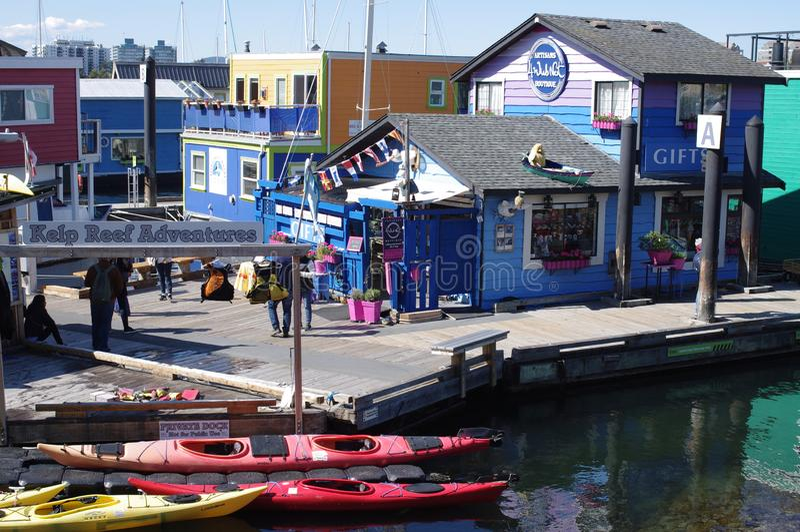Le quai du pêcheur dans Victoria, Canada photos libres de droits