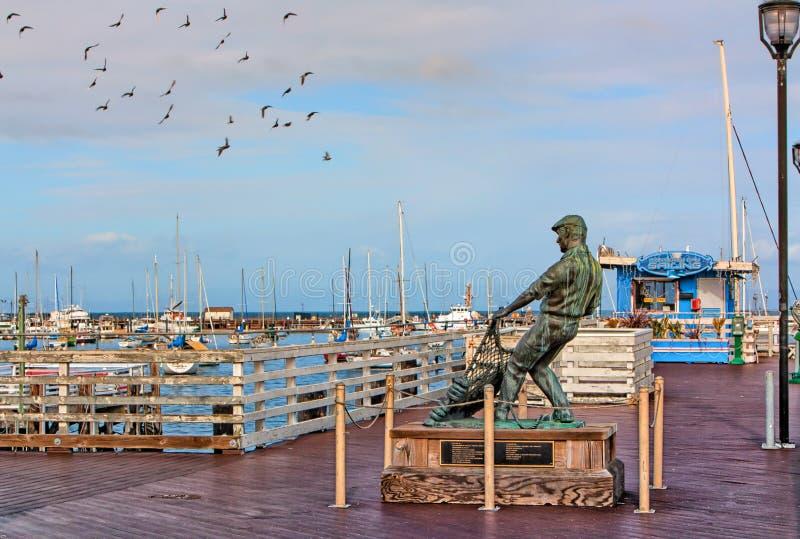 Le quai du pêcheur de baie de Monterey images stock