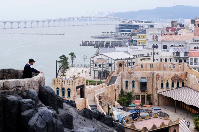 Le quai du pêcheur de Macao photo libre de droits