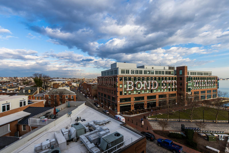 Le quai en esclavage de rue abat dedans le point à Baltimore, le Maryland photos libres de droits