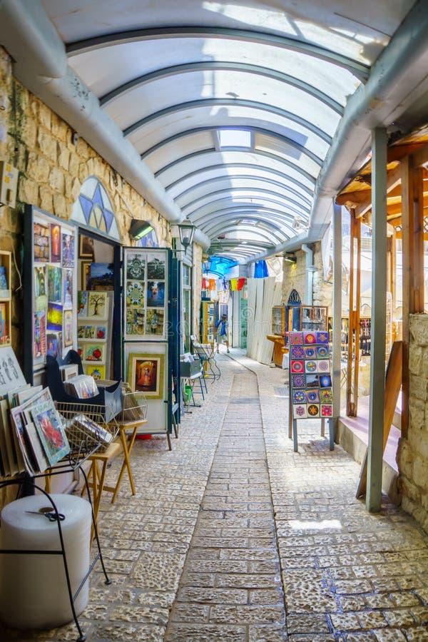 Le quart juif, Safed image libre de droits
