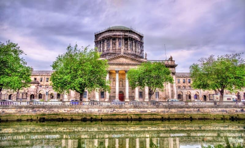 Le quattro corti che costruiscono - Corte suprema dell'Irlanda fotografia stock