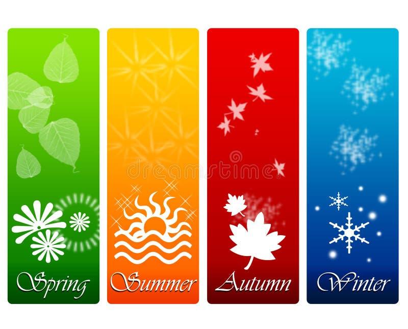 Le quattro stagioni illustrazione vettoriale