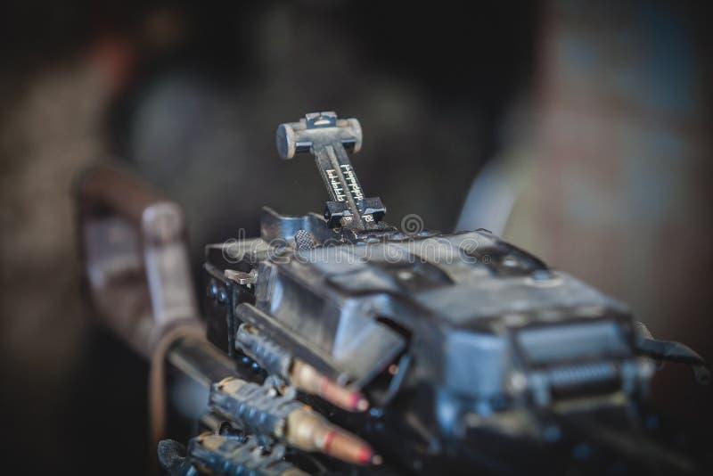 Le récepteur et le bout de la mitrailleuse lourde images stock