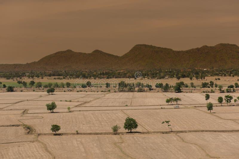 Le réchauffement global, est mort et sol criqué dans la saison aride, vue de image libre de droits