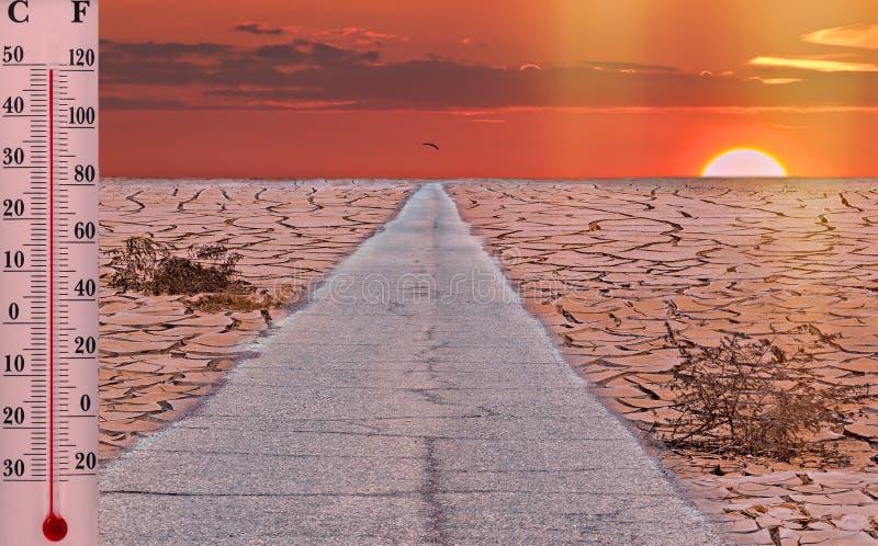 Le réchauffement global est une vraie menace pour notre civilisation photographie stock