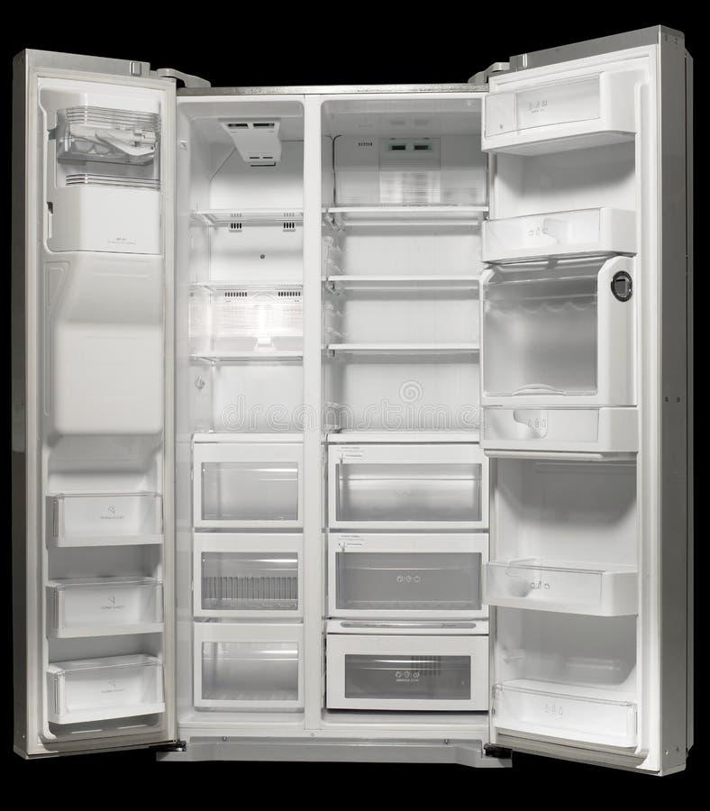 Le réfrigérateur blanc vide image libre de droits