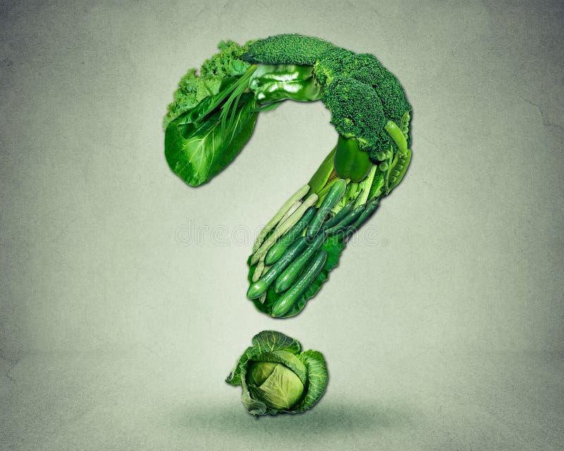 Le régime vert interroge des légumes fruits de resh de concept photographie stock