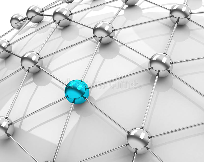 Le réseau illustration libre de droits