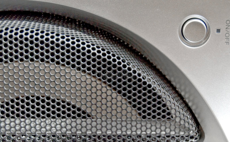 Le réseau de haut-parleur fort. image stock