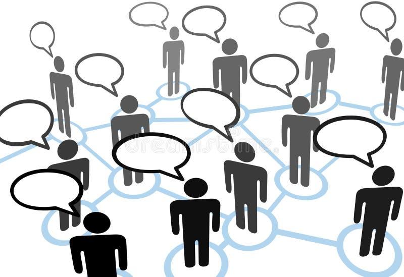 Le réseau de transmission parlant de la parole d'Everybodys illustration de vecteur