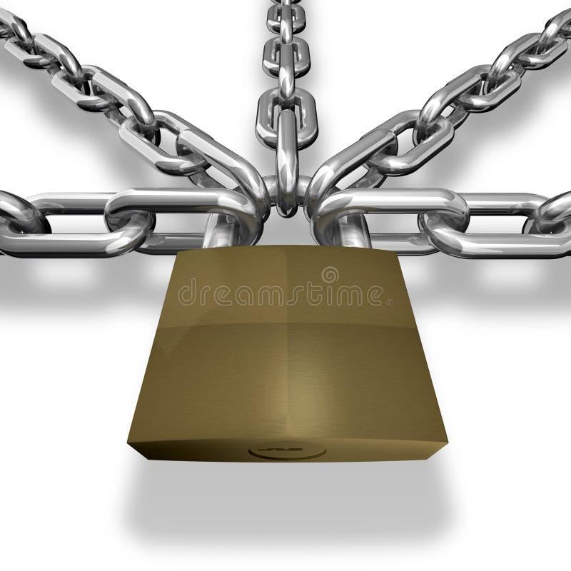 Le réseau s'est fermé avec un blocage. illustration libre de droits