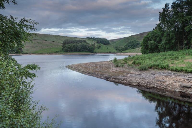 Le réservoir à la vallée de Goyt image stock