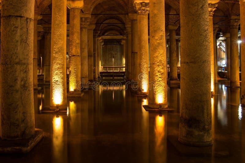 Le réservoir de basilique dans Instanbul image stock