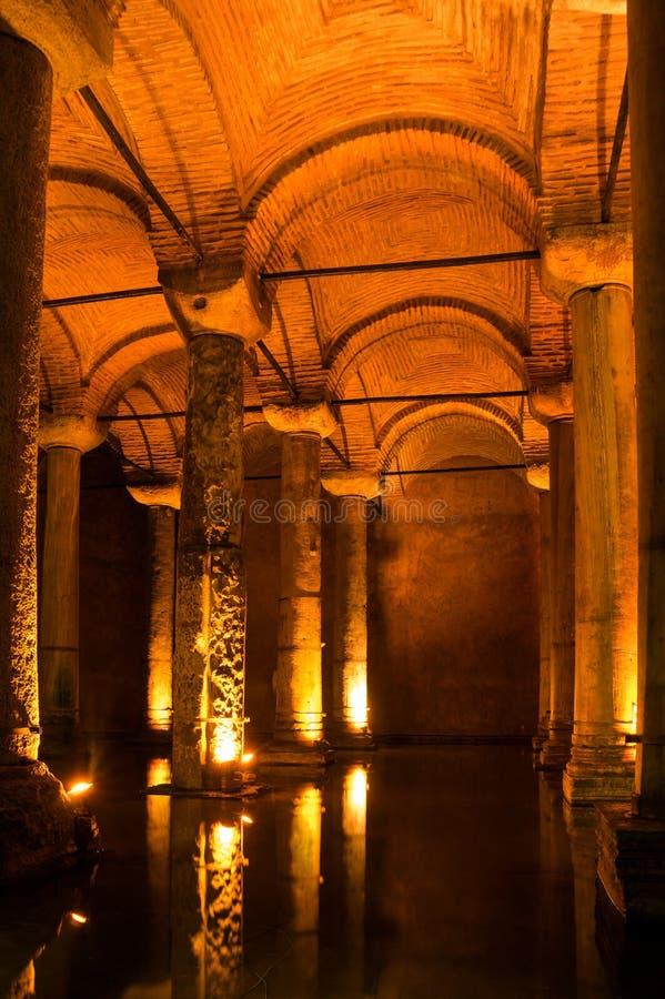 Le réservoir de basilique dans Instanbul image libre de droits