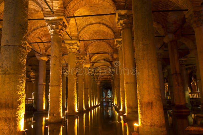 Le réservoir de basilique (Yerebatan Sarnici) image libre de droits