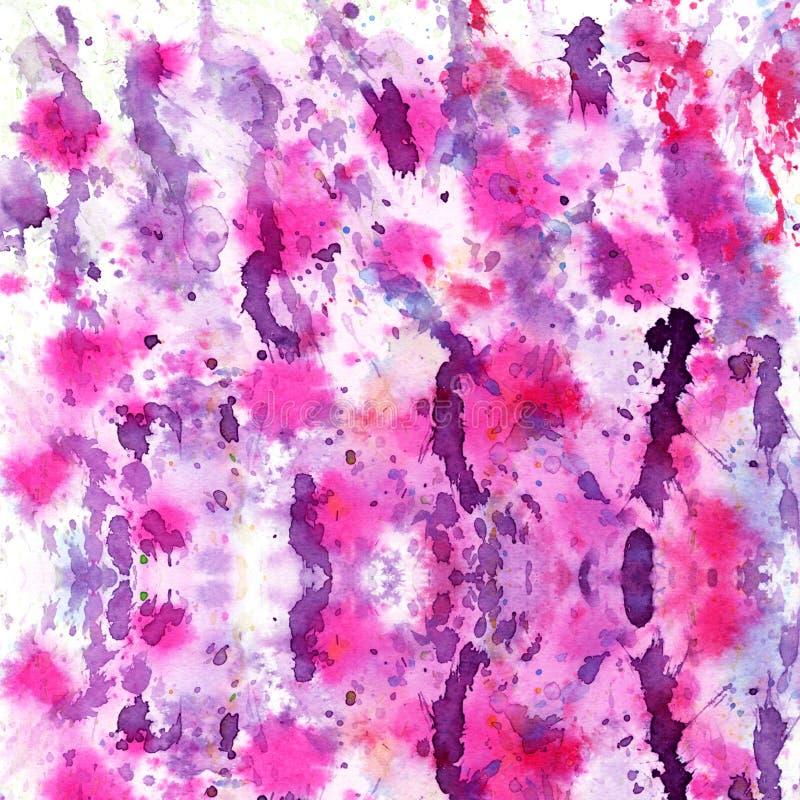 Le résumé a éclaboussé et a éclaboussé des taches de violette colorée photo stock