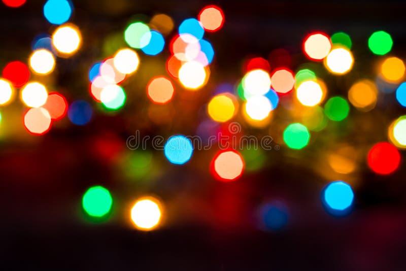 Le résumé allume le fond de Noël images stock