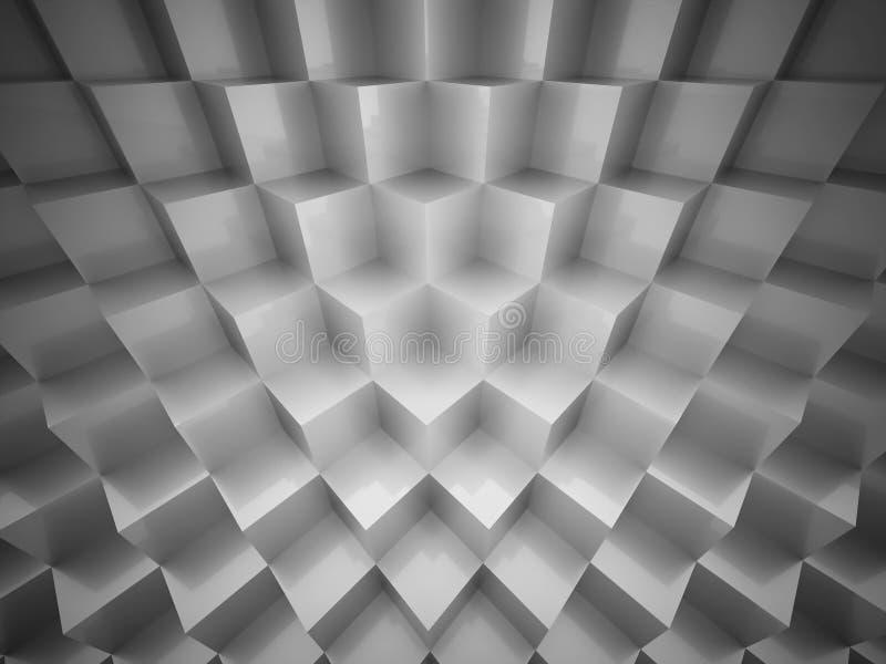 Le résumé argenté cube le fond illustration libre de droits