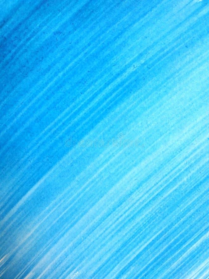 Le résumé a balayé le fond peint à la main cyan, illustration de vecteur