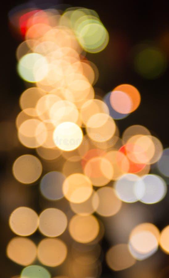 Le résumé a brouillé Bokeh coloré, le fond abstrait Bokeh coloré au trafic de nuit à Bangkok, Thaïlande photo libre de droits