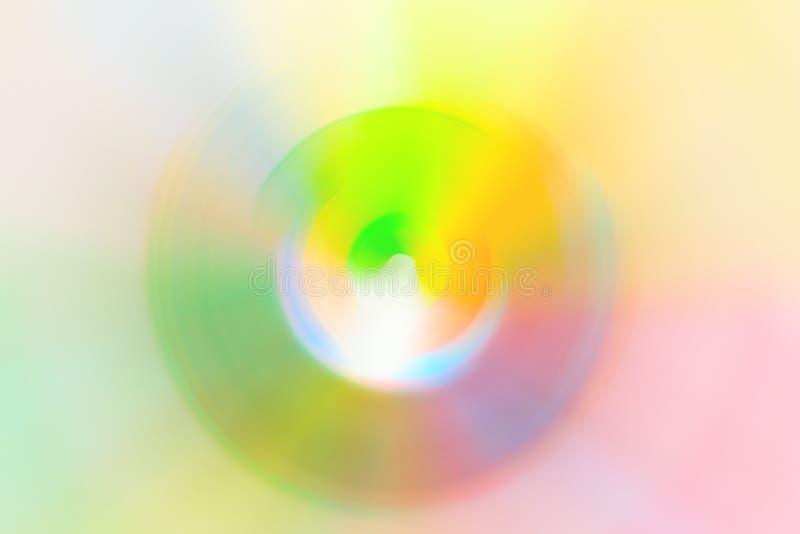 Le résumé a brouillé les couleurs vives au néon de remous de spectre radial multicolore de fond Hallucination spirituelle d'hypno images stock